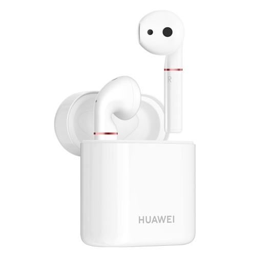 HUAWEI FreeBuds 2 Écouteur sans fil Assistant vocal Charge sans fil BT5.0 IP54 Écouteurs étanches à l'eau à double frappe Contrôle 15 heures d'appel casque avec microphone pour smartphones HUAWEI
