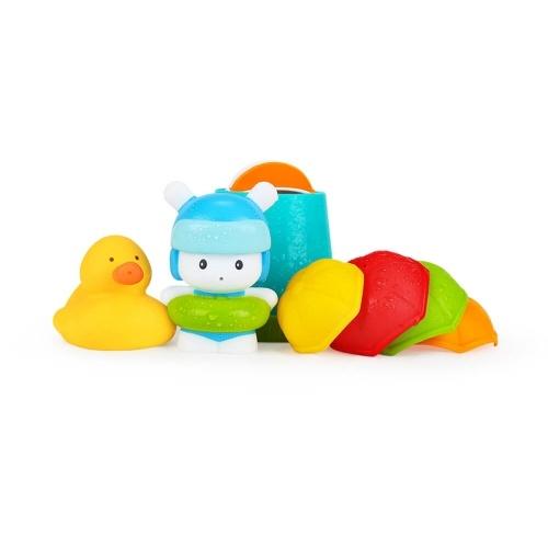 7pcs/lot Mitu Hape Baby Shower Toy Set Kids Cute Bath Toy Set Bathing Suit Color Environmental Safety Cartoon Multiple Gameplay