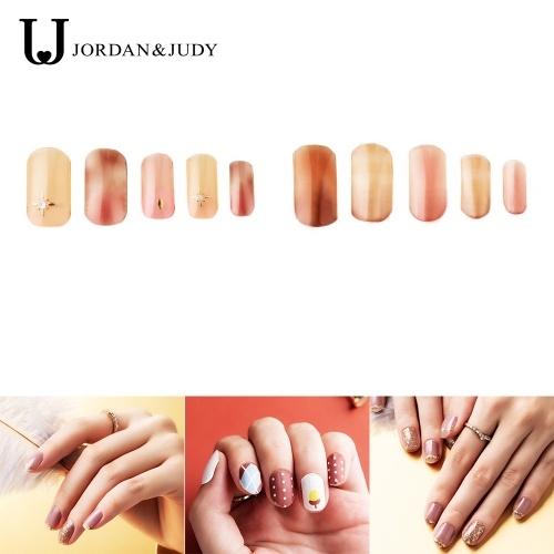 Jordan & Judy Adesivi per unghie con strisce di smalto per unghie Toolkit Involucri completi Decalcomanie autoadesive per nail art Design per unghie adesivo Disegni per manicure per donne Ragazze