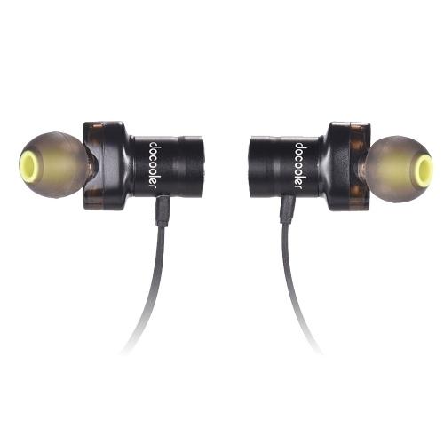 docooler S2 ثنائي ديناميكيات السائقين اللاسلكية BT4.2 الرياضة سماعات في الأذن سماعة شريط حول ياقة الملابس