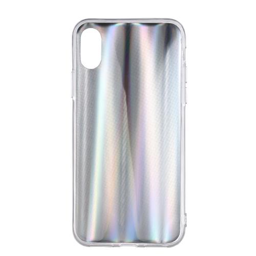 Cas coloré de téléphone laser pour iPhone X Bling Rainbow couverture de téléphone de protection Soft TPU Shell Anti-rayures Dirt-résistant