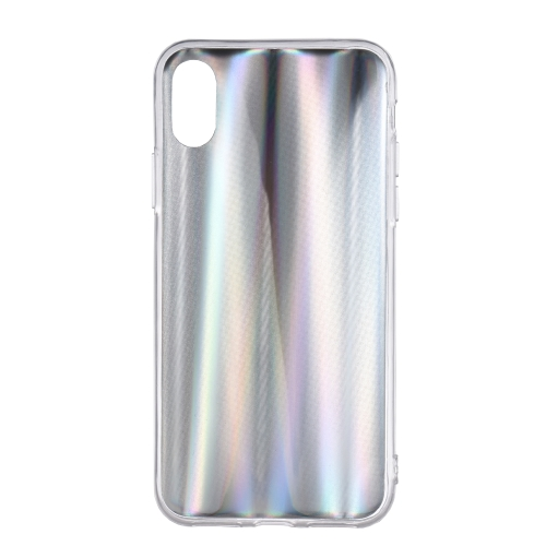 Kolorowe laserowe etui na telefon iPhone X Bling Rainbow Ochronne etui na telefon Miękka TPU Powłoka Anti-scratch odporna na brud