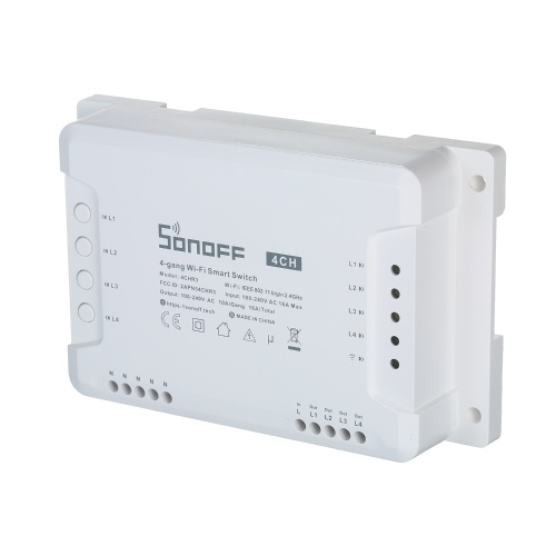 SONOFF 4CH R3 4-Gang Wi-Fi DIY Smart Switch 4-Wege-Hausautomations-Switch-Modul