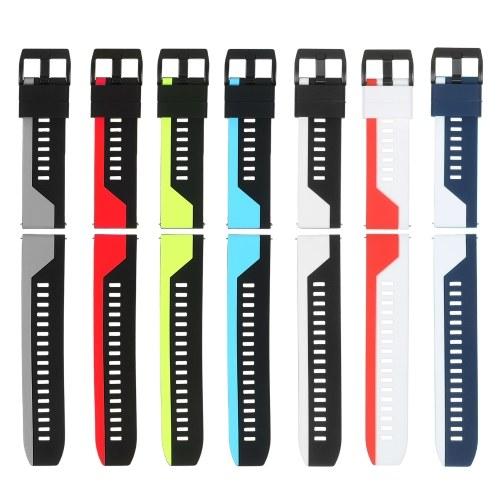 22 mm Uhrenarmband Weiches Silikon-Schnellverschlussarmband mit Schnalle Atmungsaktives Armband Armband Kompatibel mit 22 mm Smart / Traditional-Uhr (7-Farben-Packung)