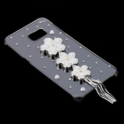Luxury Cute 3D Glitter Handmade Crystal Bling Diamond Clear Transparent Hard PC Case for Samsung Galaxy S6 Edge Plus 5.7