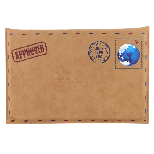 Envelope Style Messenger Protective Case Cover Bag Retro PU Leather for Apple Mac Air Pro 11.6