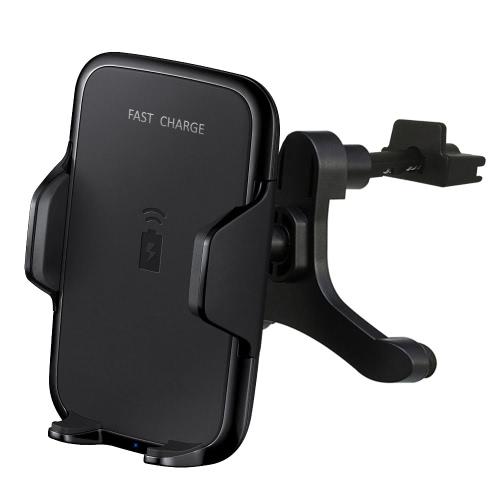 ポータブルQi車高速ワイヤレス充電器エアベントブラケット車載車両ドック充電スタンド携帯電話充電ホルダーサムスンギャラクシーS8 / S8 + / S7 / S7エッジ/ S6エッジ+ /ノート5 /ノート8 /ノートFEおよび他のQi対応のスマートフォン