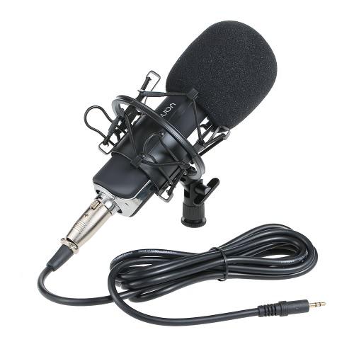 Microfone de condensador cardioide com microfone de alta sensibilidade Yanmai com suporte de montagem à prova de choque para gravação profissional de gravação de gravação de radiodifusão