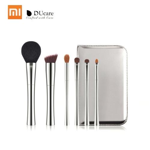 Xiaomi DUcare Pincéis de Maquiagem Define 6 pçs / lote Pó Foundation Sombra Make Up Brushes Pony Cabelo Sintético Cerdas Macias Beleza Cosméticos Kits