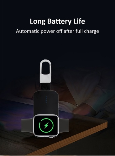 Power Bank Wireless Charger Portable Outdoor External Mini Key Chain 1000mAh Large Capacity Magnetic Charger for iWatch 1/2/3/4