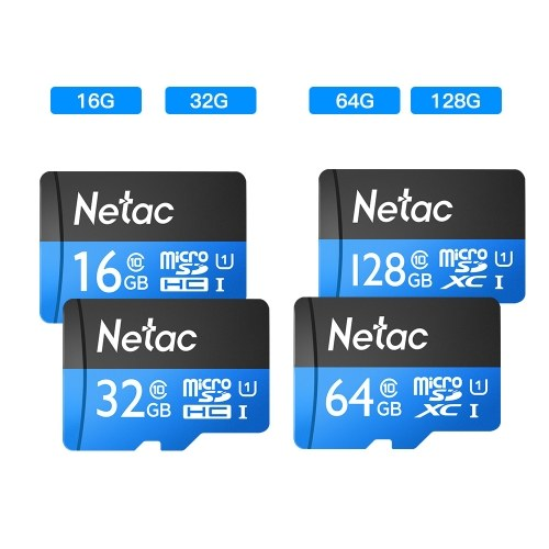 Netac P500 Class 10 128GB Micro TF Flash Memory Card Data Storage UHS-1 High Speed Up to 80MB/s