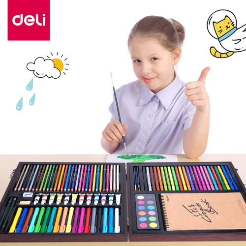 Xiaomi Youpin Deli Farben Aquarellstifte Karton Set Holzkiste Zeichnung Farbe Bleistift Schule Kinder Farbe Bleistifte Malerei Buntstifte Künstlerbedarf