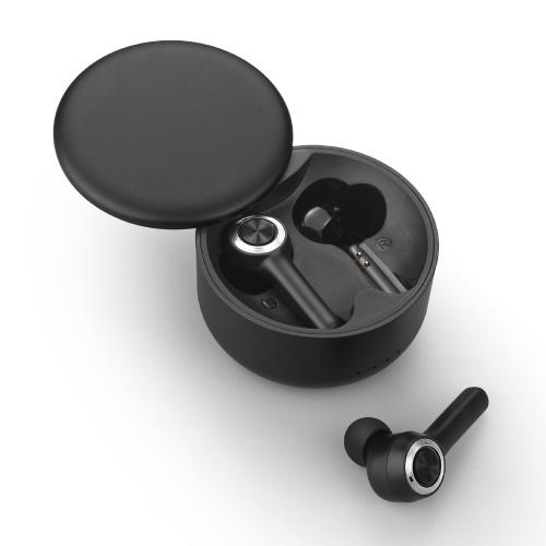 Fones de ouvido intra-auriculares S106 BT com redução de ruído estéreo à prova d'água Fones de ouvido esportivos com chamada HD para música de jogo compatível com iOS Android preto
