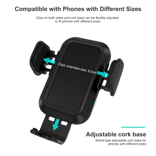 CC-20 15W Wireless Car Charger Auto-Clamping Air Vent Phone Holder