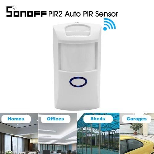 Sonoff PIR2自動PIRセンサーデュアル赤外線IRワイヤレスモーションディテクター433Mhz RFセンサーAlexa Google Home用スマートホームオートメーションセキュリティアラームシステム