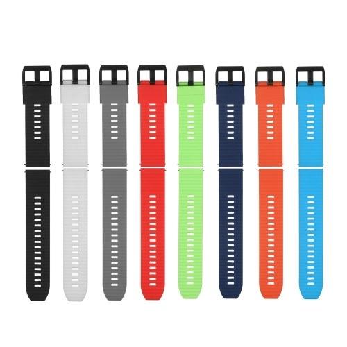 Bracelet de montre 22 mm Bracelet en silicone souple à dégagement rapide avec boucle Bracelet de montre respirant Compatible avec la montre intelligente / traditionnelle de 22 mm