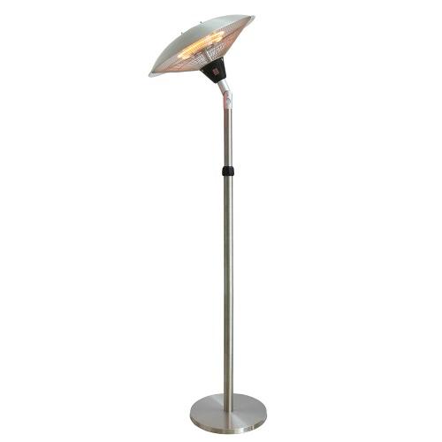 Parasol chauffant électrique sur pied hauteur réglable tête inclinable type halogène - 2100W