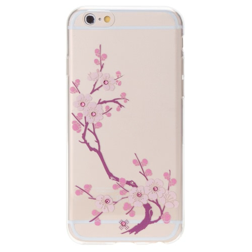 Luxury Ultra-thin Rhinestone Bling TPU Super Flexible Clear Back Shell Case Cover for iPhone 6 6S 4.7