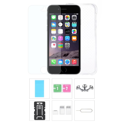 Phone Accessories Protective Back Case Screen Film Protector Phone Stand Card Slot Pin Earphone Dust plug for iPhone 6 6S