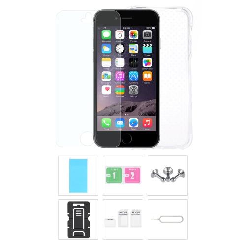 Akcesoria do telefonów podłączyć ochronna obudowa ekranu Protector Film Telefon Stojak Slot kart Pin słuchawkowe kurzem dla iPhone 6 6S