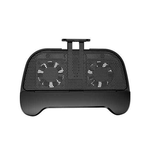 Radiador multi-funcional do telefone móvel com fãs de resfriamento Suporte do suporte do refrigerador do telefone celular Gamepad Banco de energia portátil para smartphones de tela de 4,5 a 6,2 polegadas
