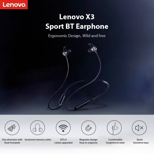 Lenovo X3 In-Ear BT5.0 Wireless Earphone
