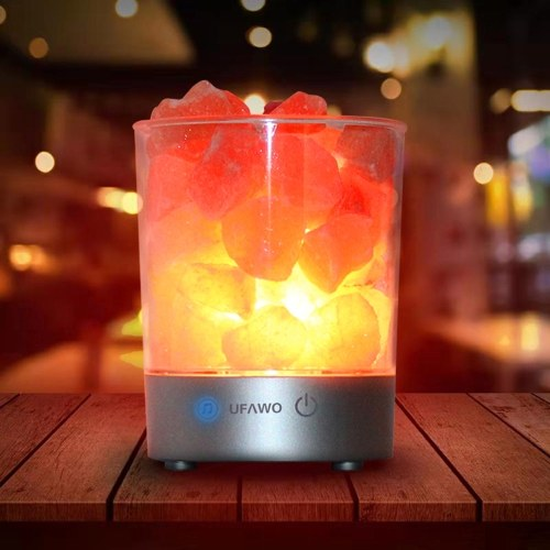 UFAWO U1 Wireless BT Speaker+Crystal Salt Rock Lamp