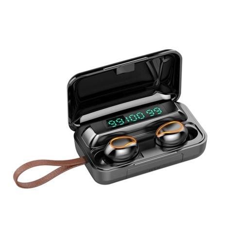 Auricolari BT in-ear F9 TWS con audio stereo nero
