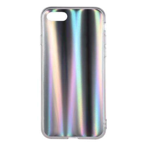 iPhone 7のiPhone 8のためのカラフルなレーザー電話のケースを虹の保護電話カバー柔らかいTPUシェルの傷つきにくい汚れにくい