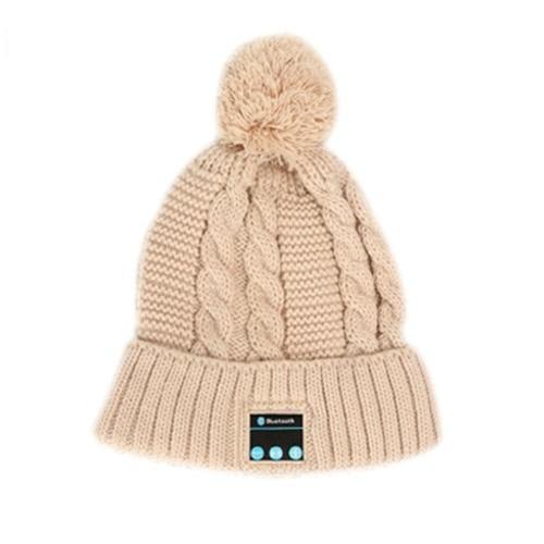Fashion Soft Warm Beanie Hat Wireless Bluetooth Smart Cap Headphone Headset Speaker with Mic