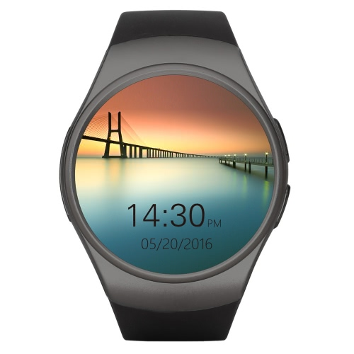 KW18 BT fréquence cardiaque intelligent Wrist Watch 2G GSM MTK2502C 128MB + 64Mo 1,3 pouces 240 * 240pixels écran LCD avec rappel d'appel podomètre Sédentaire Remote Camera Chronomètre anti-perte pour iPhone 6 6S 6 bord Plus 6S plus Samsung S6 S7 S7 Motorola LG HTC Sony Smart Phone