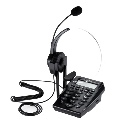 HT310 cuffia telefonica Affari Cuffie ID chiamante telefono servizio clienti Telefono cancellazione del rumore di risparmio energetico con supporto retroilluminazione