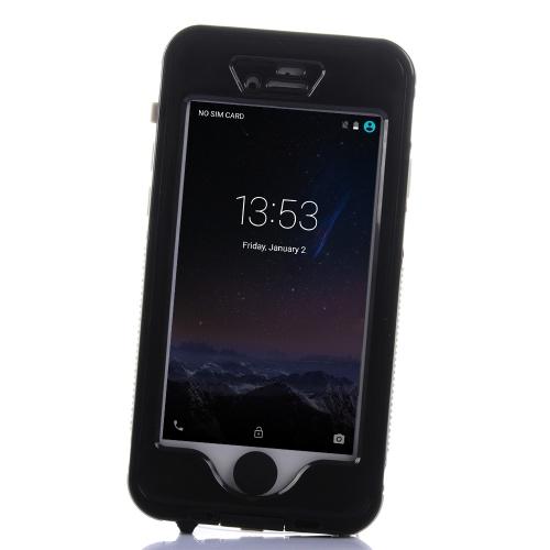 IPhone 6 の 6 s の光の重量重い義務夜明るい電話ケース シェル バンパー防塵防水 IP68 耐震性雪保護タッチ スクリーンとホームボタン スタンド 4.7