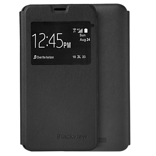 Blackview Lightweight Fashion Bumper Flip Shell Case Protective Phone Cover with Window + Tempered Glass Screen Protector   Protection Film for Blackview BV2000