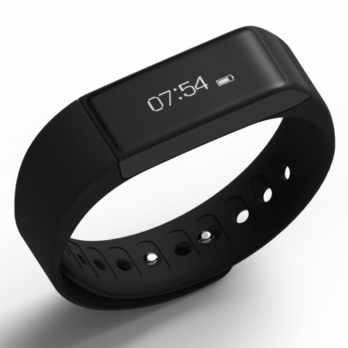 """I5 Plus Smart Bransoletka Wristband 0.91 """"Ekran OLED BT 4.0 Wodoodporny IP65 Sport Wrist Sleep Monitor Krok Pedometr Zdalne sterowanie kamerą Smartband Watch Band dla iPhone 6 6 Plus Samsung S6 S7 Plus Smartphones"""