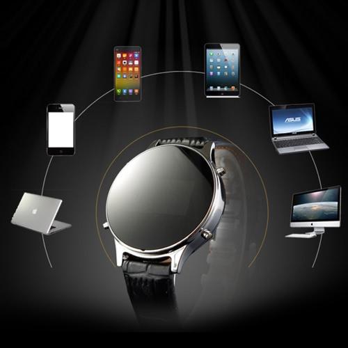 MT360 Android BT pedômetro inteligente relógio de pulso + PU banda 0.96 polegadas 240 * 240pixels tela OLED com anti remoto de câmera chamada lembrete para Samsung S6 S7 S7 borda Motorola LG HTC Smartphone Sony
