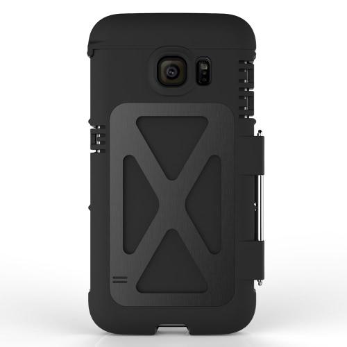 ARMOR KING durável protetor concha cobrir Metal à prova de choque à prova de poeira para Samsung Galaxy S7 borda traseira câmera proteção local do furo exato