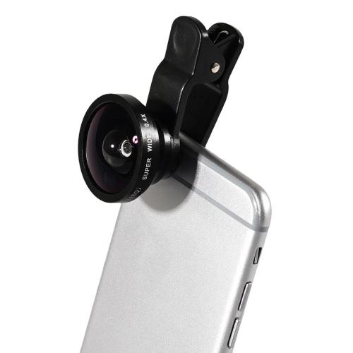 Oryginalny Lieqi 3 w 1 Super szerokokątny 0.4X Fish Eye 180 stopni Macro 10X zdjęcie obiektywów dla iPhone 6S 6 Plus Samsung S7 Edge S6 Edge Telefony komórkowe iPad Tablet PC Tablet