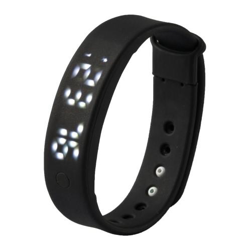 A6 Smart Bande pour Smartphone Android avec OTG fonction ordinateur 3D podomètre moniteur de calories moniteur du sommeil intelligent mouvement d'alarme silencieuse mémoire des données heure/Date
