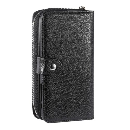KKmoon 2 en 1 Zipper Wallet Phone Cover en cuir PU Coque de protection amovible Folio de Flip Holster de transport Porte-cartes pour iPhone 6 Plus 6S plus 5.5inch