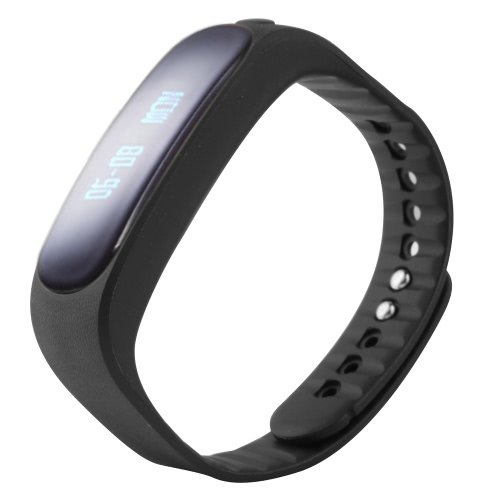 E02 intelligente BT Sport Watch Wristband TPU Banda 0,84 pollici 96 * 16 pixel OLED non-touch screen Testo chiamate in entrata notifica Pedometro Promemoria sedentari per iPhone 6 6S 6 Plus 6S Inoltre Samsung S6 S7 bordo Android 4.3 iOS7.0 o superiore