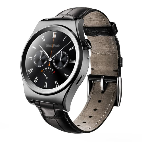 X10 Smart Watch Sports MTK2502C 64MB RAM 128MB ROM 1.30inch Screen Bluetooth 4.0 for iPhone Android Smartphone Bluetooth 4.0 Crown Control Scaling/ Switching Real Time Temperature Pedometer