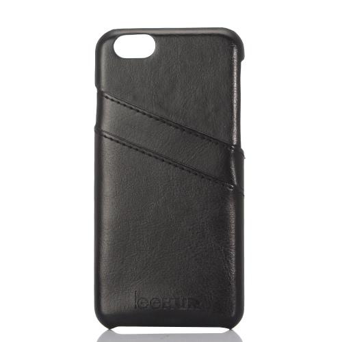 leeHUR Skórzana Phone Case ochronna pokrywa Shell + Screen Protector for 4.7 cala iPhone 6 6S Ekologiczne Materiały Stylish Portable ultracienkich Anti-scratch przeciwkurzowe Durable
