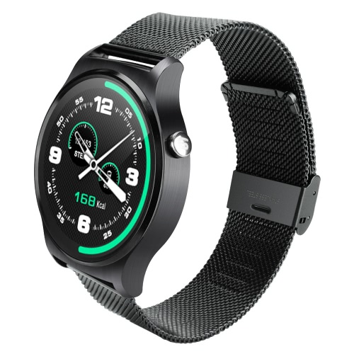 GW01 Smart Watch 1.3inch Full Round IPS HD LCDScreen 240*240px MTK2502A CPU 64MB+128MB Memory BT4.0 360mAh Battery Heart Rate Sleep Monitor Bluetooth Phone