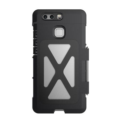 Boîtier métallique ARMOR KING luxe en acier inoxydable Flip Phone 360 degrés complet Protect Phone Housse de protection Shell pour Huawei P9
