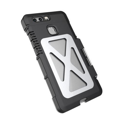 Aço inoxidável Armor King Luxo Flip Phone caixa de metal de 360 graus completa Proteja tampa do telefone escudo protetor para Huawei P9