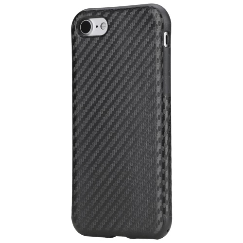 ROCK Carbon Fiber Grain TPU Phone Case 360 Degree Full Protect Phone Cover Protective Shell High Quality Soft Case for iPhone 7 4.7inch