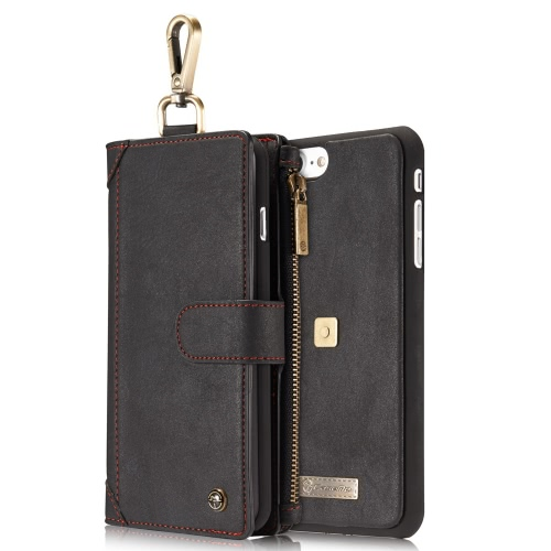 CaseMe 009 3-в-1, защитная крышка бумажник чехол для iPhone 7 Plus
