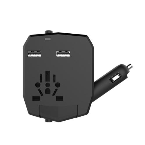 Универсальный международный универсальный адаптер для путешествий в мире с автомобильным зарядным устройством 2.5A Двойные USB-порты для US AU UK EU Plug Socket Power Converter