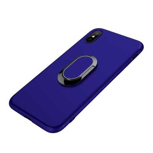 Copertura posteriore della copertura protettiva della copertura del telefono cellulare della cassa del telefono con il supporto dell'anello di barretta di rotazione a 360 ° per il iPhone X